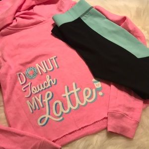 Justice girls outfit pink and donuts